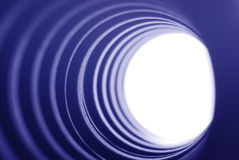 Blue tunnel light Royalty Free Stock Image