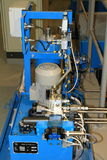Blue turbine - engine Stock Photography
