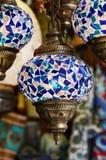 Blue turkish mosaic lanterns Stock Image