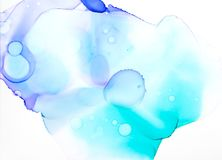 Blue and turquise watercolor background. Blue and turquise watercolor textures on white background Stock Image
