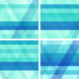 Blue and turquoise backgrounds with stripes Royalty Free Stock Image