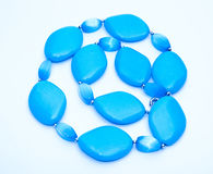 Blue Turquoise Beads Royalty Free Stock Photo