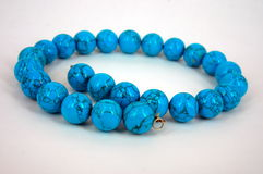 Blue turquoise necklace Stock Image