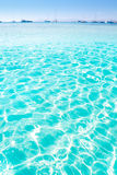 Blue turquoise ripple Formentera water Royalty Free Stock Photo