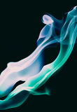 Blue and turquoise smoke Stock Images