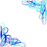 BLUE TURQUOISE SWIRLS  ABSTRACT Royalty Free Stock Photos