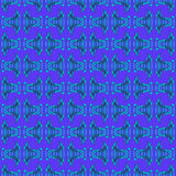 Blue Turquoise Tribal Pattern Royalty Free Stock Photography