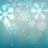 Blue and turquoise winter background Royalty Free Stock Images