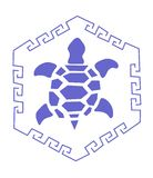Blue turtle Royalty Free Stock Photography