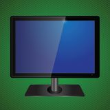Blue tv screen Royalty Free Stock Photos