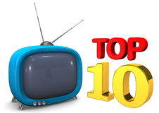 Blue TV Top 10 Stock Image