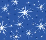 Blue Twinkling Sparkling Stars Royalty Free Stock Images