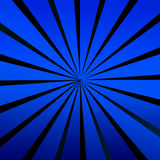 Blue Twirl. Blue And Black Rays Shining From The Centre To The Outside, Illustration Background Vector Illustration