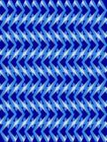 Blue twisted long rhombus background Stock Image