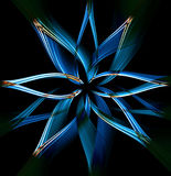 Blue twisted waves. Blue twisted waves forming a flower Royalty Free Stock Photo