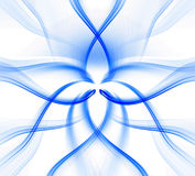 Blue twisted waves. Fancy tracery. Blue twisted waves for background Royalty Free Stock Photography