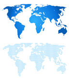 Blue two map of the world Stock Photography