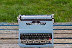 Blue Typewriter Royalty Free Stock Images