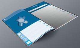 Blue UI Design Magazine Stock Photography