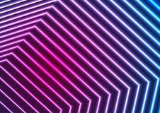 Blue ultraviolet neon laser beam lines abstract background. Blue and ultraviolet neon laser beam lines abstract background. Vector fluorescent iridescent design Stock Photography