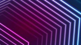 Blue ultraviolet neon laser beam lines video animation