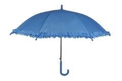 Blue umbrella. Isolated on white background Royalty Free Stock Photos