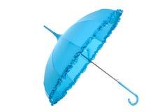 Blue umbrella royalty free stock photos