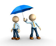 Blue umbrella Stock Image