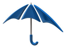 Blue umbrella icon Royalty Free Stock Photos