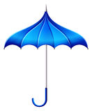 A blue umbrella Royalty Free Stock Photo