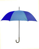 Blue umbrella - isolated Royalty Free Stock Images