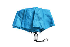 Blue umbrella isolated Stock Image