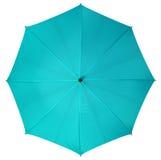 Blue umbrella isolated Stock Photography