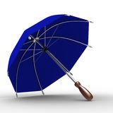 Blue umbrella on white background Royalty Free Stock Image