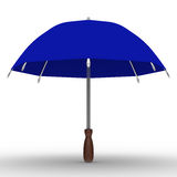 Blue umbrella on white background Royalty Free Stock Photo