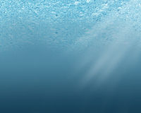 Blue underwater background Stock Image