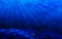 Blue underwater scene Stock Photos