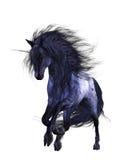 Blue Unicorn 1. 3d render of blue Unicorn 1 Royalty Free Stock Photo