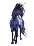 Blue Unicorn 3. 3d render of blue Unicorn 3 Royalty Free Stock Photography