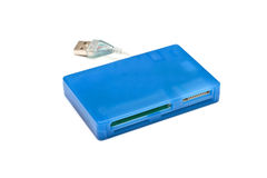Blue universal cardreader Stock Photo