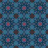 Blue universal vector seamless patterns, tiling. Geometric ornaments. Stock Photos