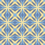Blue universal vector seamless patterns, tiling. Geometric ornaments. Stock Image