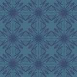 Blue universal vector seamless patterns, tiling. Geometric ornaments. Stock Photos