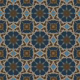 Blue universal vector seamless patterns, tiling. Geometric ornaments. Royalty Free Stock Image
