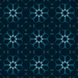Blue universal vector seamless patterns, tiling. Geometric ornaments. Royalty Free Stock Images