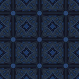 Blue universal vector seamless patterns, tiling. Geometric ornaments. Stock Images