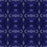 Blue universal vector seamless patterns, tiling. Geometric ornaments. Royalty Free Stock Photo