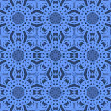 Blue universal vector seamless patterns, tiling. Geometric ornaments. Royalty Free Stock Photography
