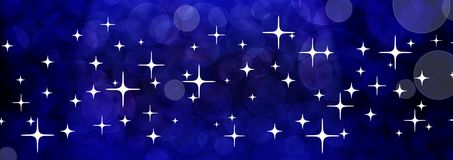 Blue universe banner Royalty Free Stock Photography