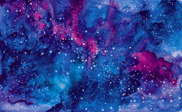 Blue universe space abstract background. Royalty Free Stock Photo